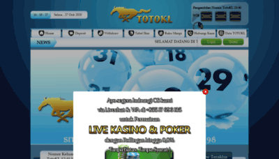 What Totokl4d.bet website looked like in 2020 (This year)