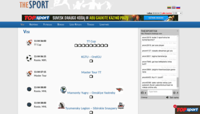 What Thesport.sx website looked like in 2020 (This year)
