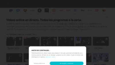 What Teleonlinedirecto.es website looked like in 2020 (This year)