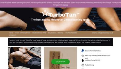 What Turbotanstar.co.uk website looks like in 2021