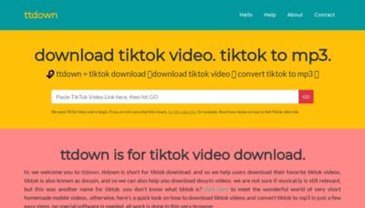 What Ttdown.org website looks like in 2021