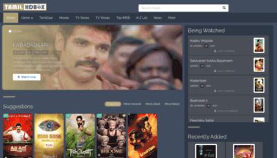 What Tamildbox.best website looks like in 2021