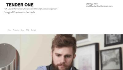 What Tenderone.co.uk website looks like in 2021