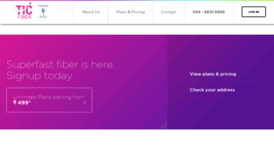 What Ticfiber.in website looks like in 2021