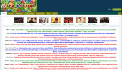 What Tamilrocker.de website looks like in 2021