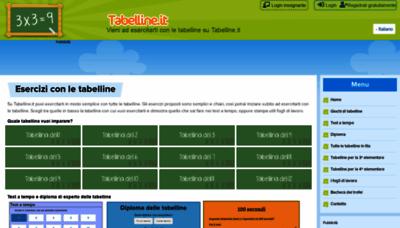 What Tabelline.it website looks like in 2021