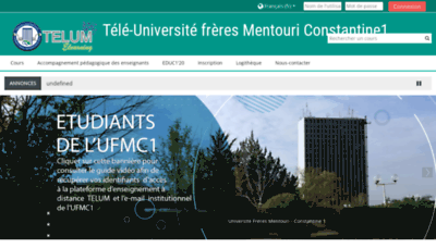 What Telum.umc.edu.dz website looks like in 2021