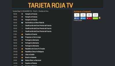 What Tarjetarojatv.biz website looks like in 2021
