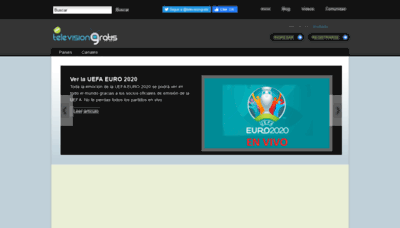 What Televisiongratis.tv website looks like in 2021