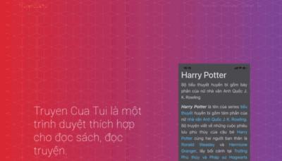 What Truyencuatui.net website looks like in 2021