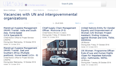 What Unjobs.org website looked like in 2016 (4 years ago)