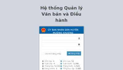 What Ubndmuongkhuong.vnptioffice.vn website looked like in 2017 (4 years ago)