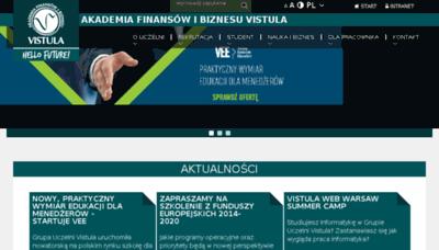 What Usosweb.vistula.edu.pl website looked like in 2017 (4 years ago)