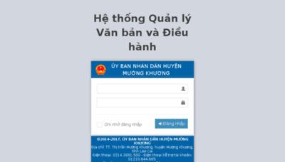 What Ubndmuongkhuong.vnptioffice.vn website looked like in 2017 (3 years ago)