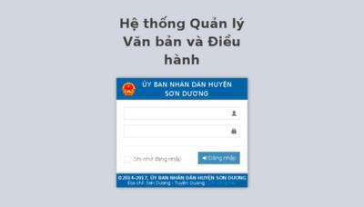 What Ubndsonduong.vnptioffice.vn website looked like in 2017 (3 years ago)