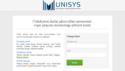 What Unisys.uzswlu.uz website looked like in 2018 (3 years ago)