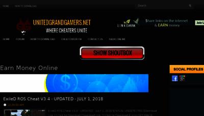 What Unitedgrandgamers.net website looked like in 2018 (2 years ago)