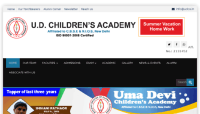 What Udca.in website looked like in 2018 (3 years ago)