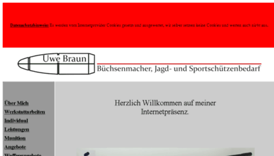What Ub-waffen.de website looked like in 2018 (3 years ago)