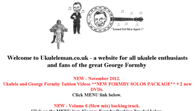 What Ukuleleman.co.uk website looked like in 2018 (2 years ago)