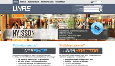 What Unas.hu website looked like in 2019 (2 years ago)