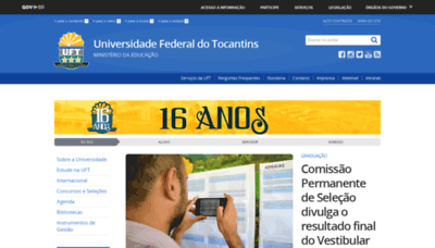 What Uft.edu.br website looked like in 2019 (1 year ago)