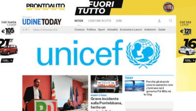 What Udinetoday.it website looked like in 2019 (1 year ago)