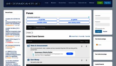 What Unitedgrandgamers.net website looked like in 2019 (1 year ago)
