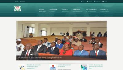 What Uiecc.cm website looked like in 2020 (1 year ago)