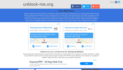 What Unblock-me.org website looked like in 2020 (1 year ago)