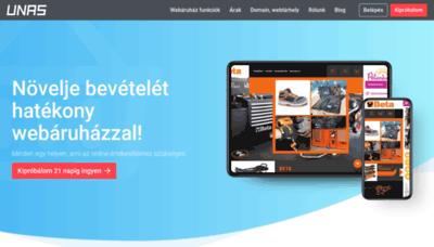 What Unas.hu website looked like in 2020 (1 year ago)