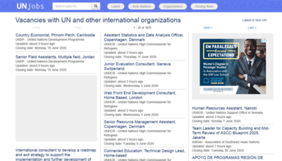 What Unjobs.org website looked like in 2020 (This year)