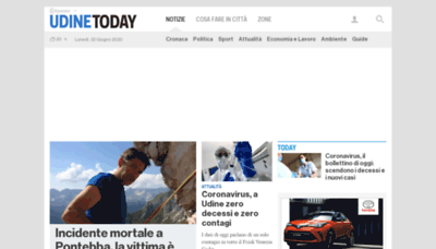 What Udinetoday.it website looked like in 2020 (1 year ago)