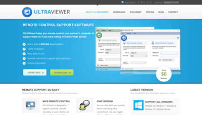 What Ultraviewer.net website looked like in 2020 (1 year ago)