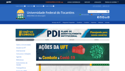 What Uft.edu.br website looked like in 2020 (This year)