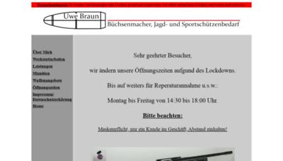 What Ub-waffen.de website looks like in 2021