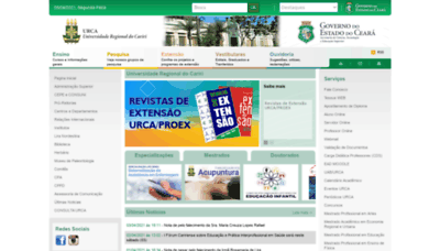 What Urca.br website looks like in 2021