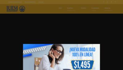 What Universidadiuem.edu.mx website looks like in 2021