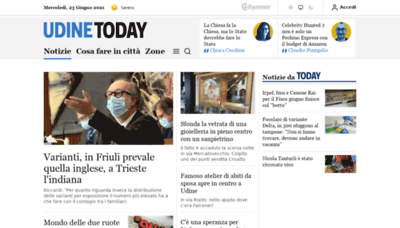 What Udinetoday.it website looks like in 2021