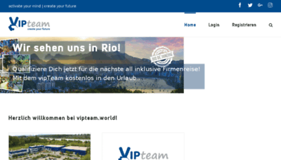 What Vipteam.world website looked like in 2018 (3 years ago)