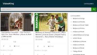 What Videokhoj.net website looked like in 2018 (3 years ago)