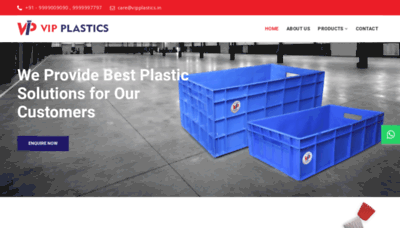 What Vipplastics.in website looked like in 2019 (1 year ago)