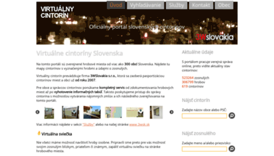 What Virtualnycintorin.sk website looked like in 2019 (1 year ago)