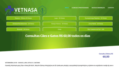 What Vetnasa.com.br website looked like in 2019 (1 year ago)