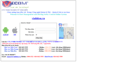 What Vinhhien2.quanlyoto.vn website looked like in 2020 (1 year ago)