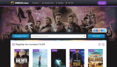 What Voirfilm.stream website looked like in 2020 (1 year ago)