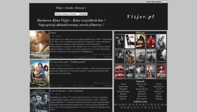 What Vizjer.pl website looked like in 2020 (1 year ago)
