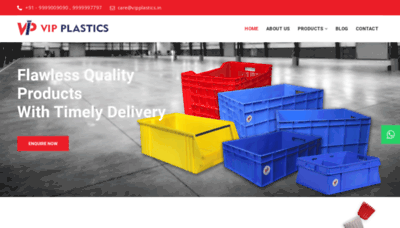 What Vipplastics.in website looked like in 2020 (This year)