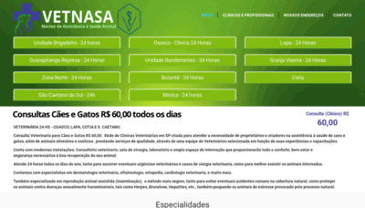 What Vetnasa.com.br website looked like in 2020 (This year)