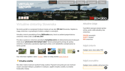 What Virtualnycintorin.sk website looked like in 2020 (This year)